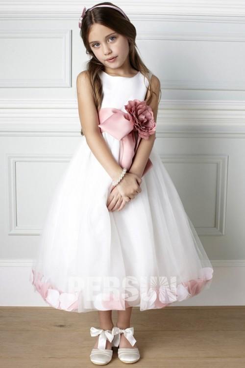 robe-mariage-fille-florale-en-tulle-design-bloc-couleur